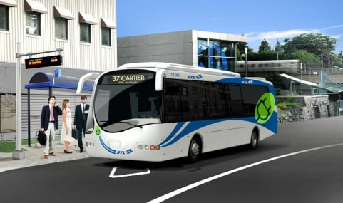 Design de l'autobus électrique de la Société de transport de Laval