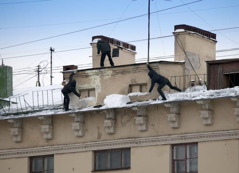 déneigement de toit