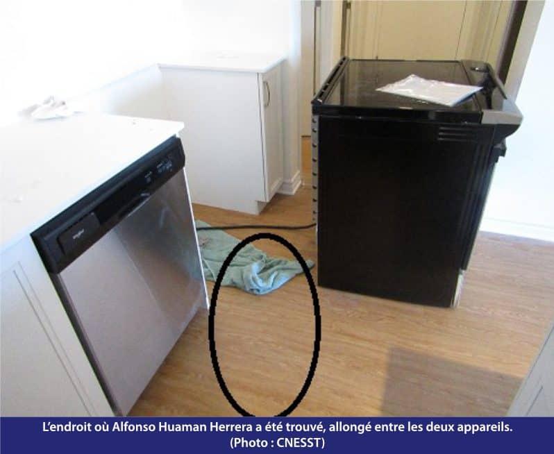 électrocution cuisinière