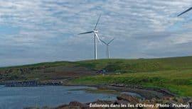 Éoliennes sur les iles d'Orkney
