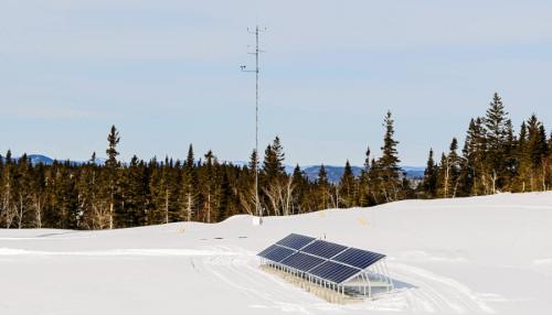 microréseaux panneaux solaires