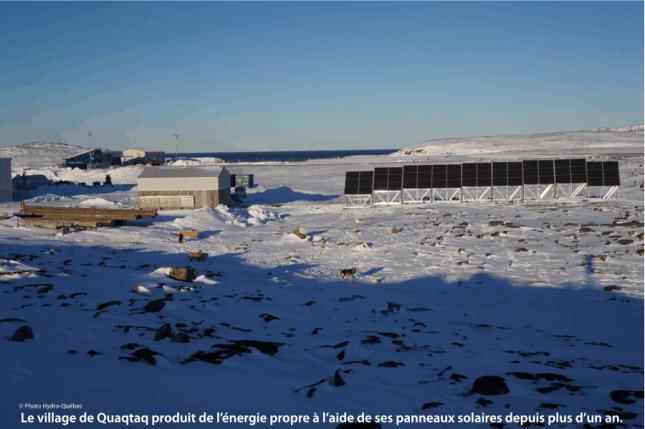 panneaux solaires du village de Quaqtaq