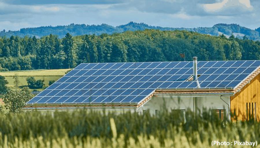 panneaux solaire toit fermé