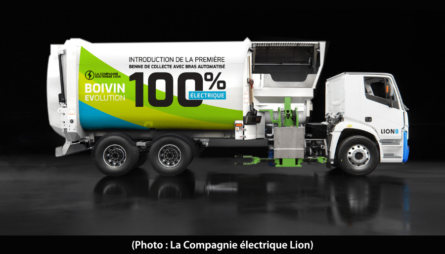 Lion8. premier camion de collecte d'ordures électrique