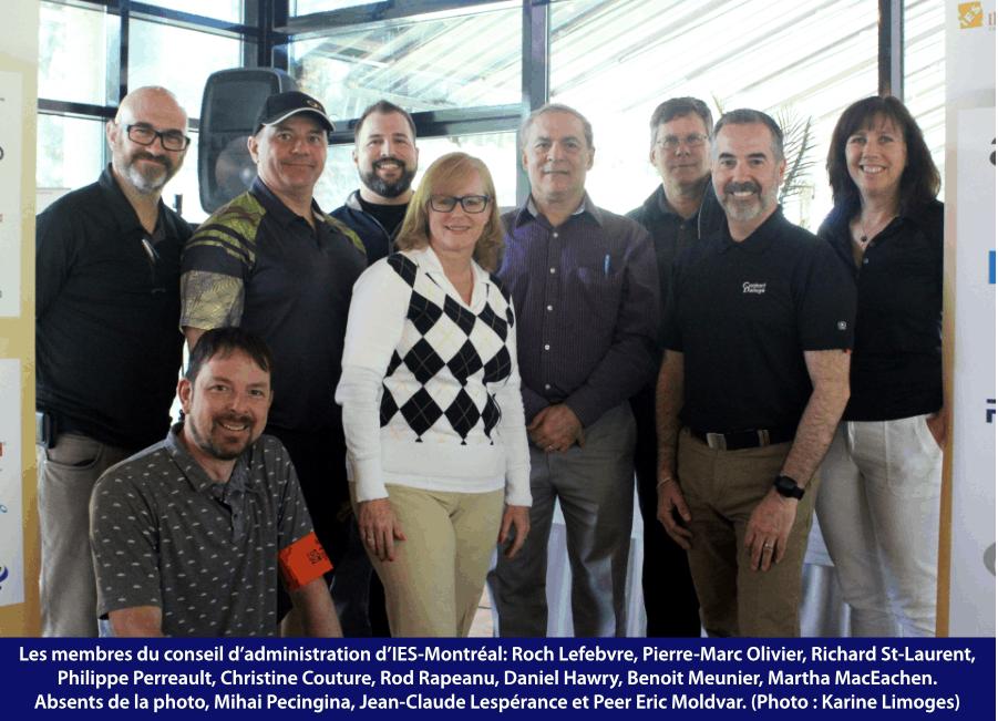 Les membres du conseil d'administration d'IES-Montréal