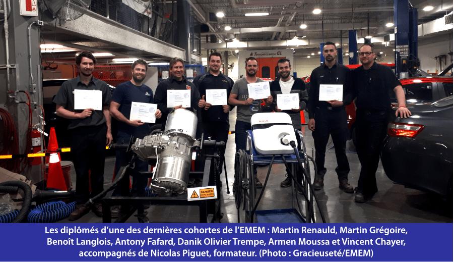 Les diplômés d'une des dernières cohortes de l'EMEM