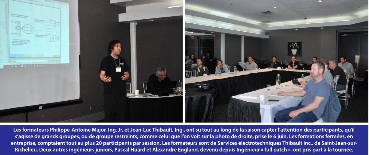 Les formateurs Philippe-Antoine Major, Ing. Jr, et Jean-Luc Thibault, Ing