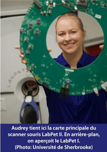 Audrey et le scanner souris LabPet II
