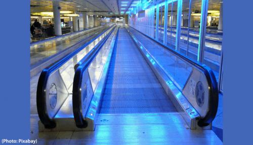 éclairage dans les aéroports