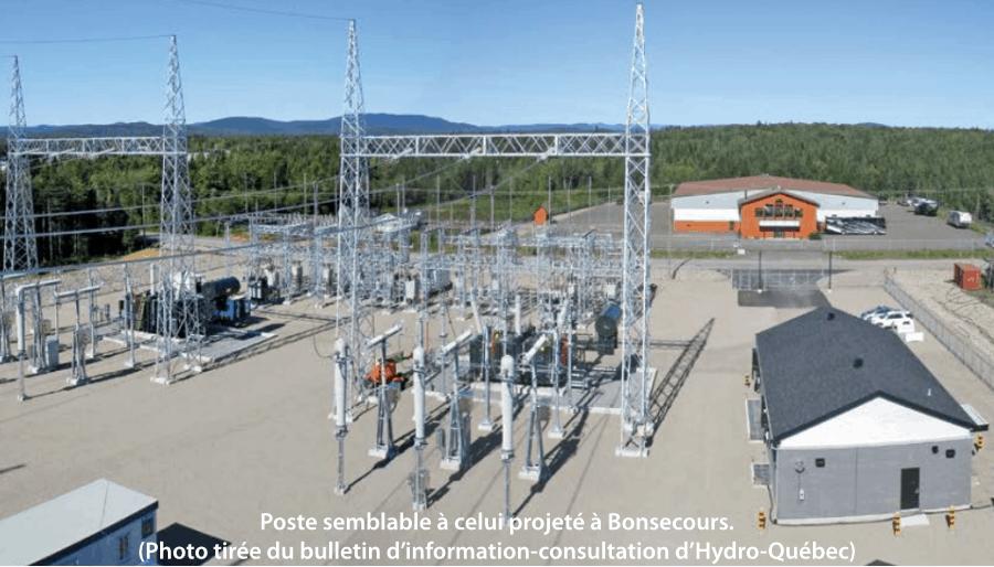 nouveau poste électrique à Bonsecours
