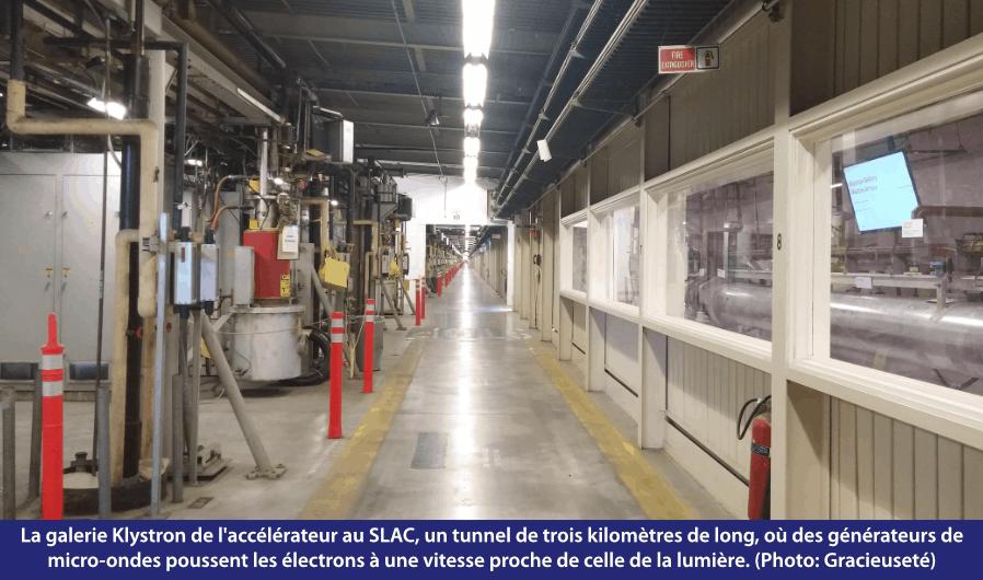 La galerie Klystron de l'accélérateur au SLAC