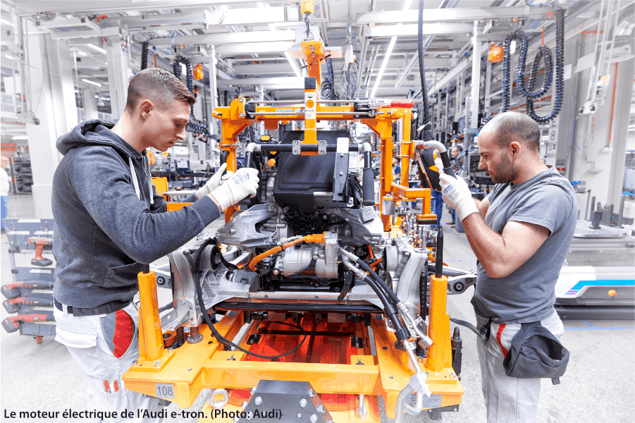 Le moteur électrique de l'Audi e-tron
