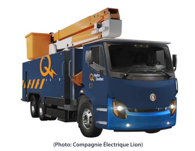 Le camion nacelle électrique de Lion