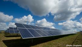 parc de panneaux solaires