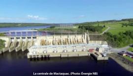 la centrale de Mactaquac au Nouveau-Brunswick