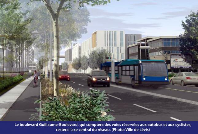Le boulevard Guillaume-Boulevard à Lévis