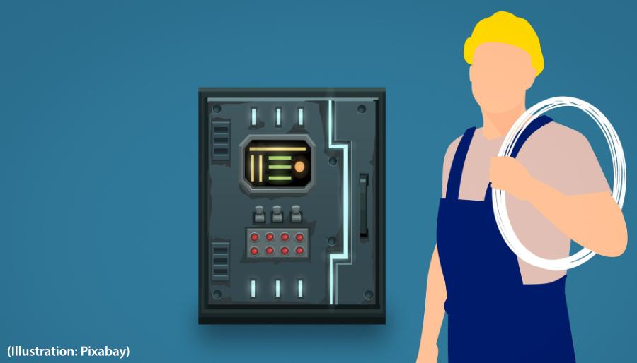 Illustration électricien