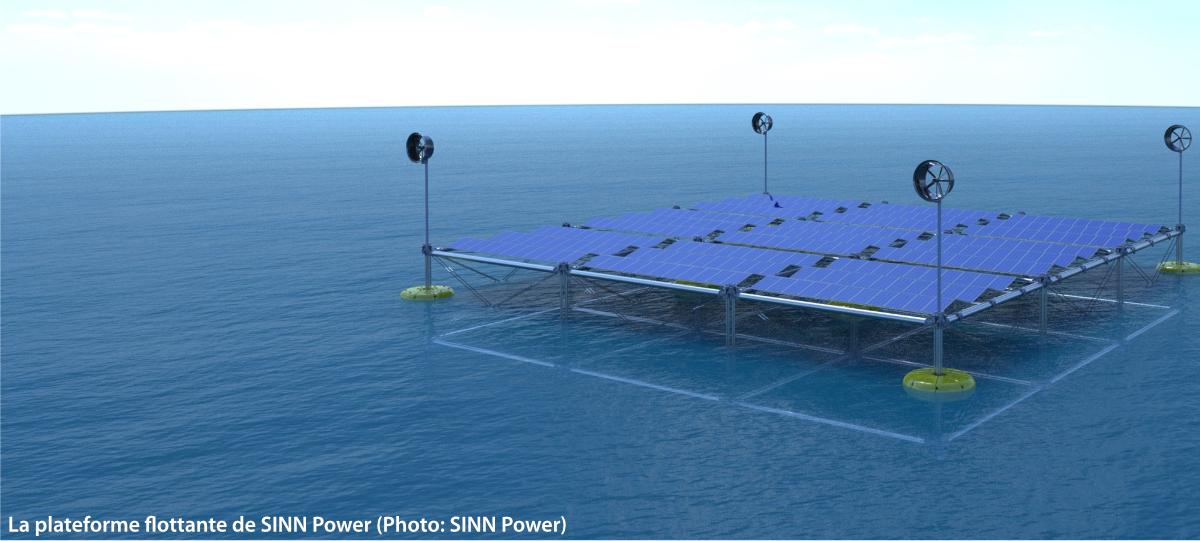 La plateforme flottante de SINN Power