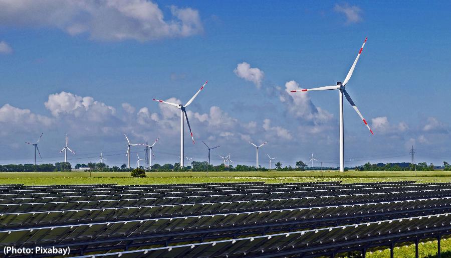 Parc solaire et éolien