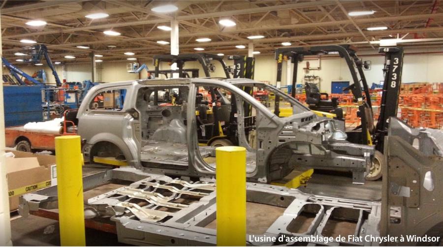 L'usine d'assemblage de Fiat Chrysler à Windsor