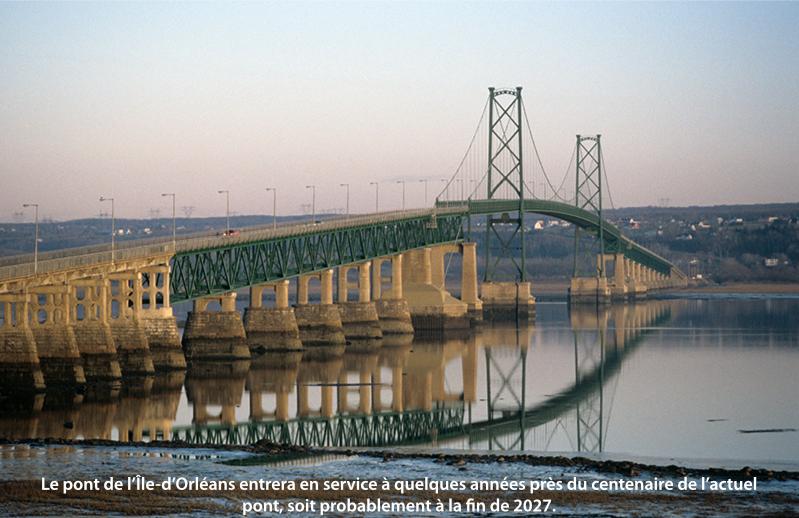 Le pont de l'Île d'Orléans actuel