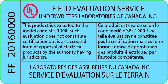 Étiquette évaluation
