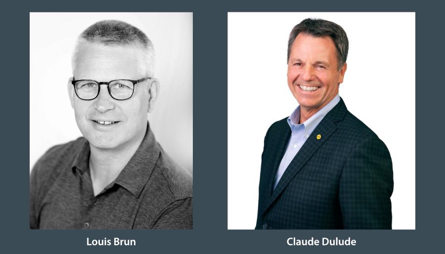 Louis Brun et Claude Dulude