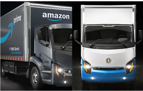 Camion électriques Lion pour Amazon
