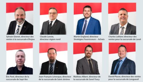 huit employés Lumen
