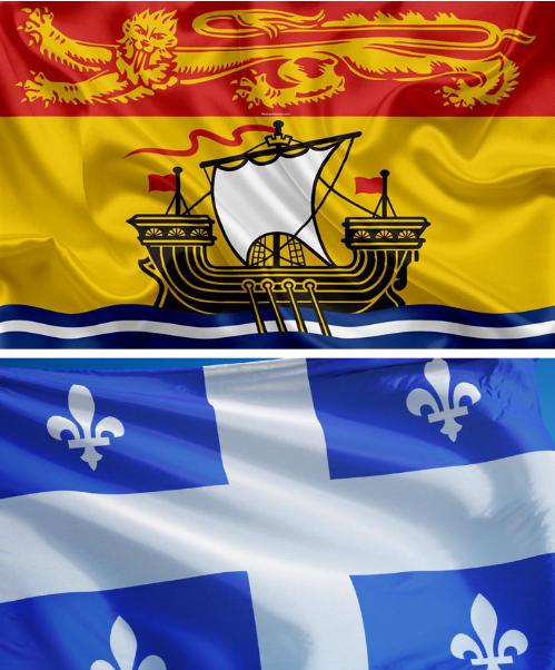 Drapeaux Nouveau-Brunswick/Québec