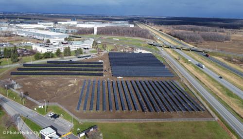 La centrale solaire Robert-A.-Boyd à Varennes