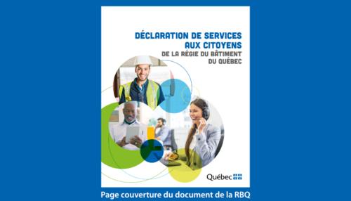 Déclaration de services aux citoyens - RBQ